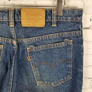 LEVI'S | 619 orange tab medium wash jeans